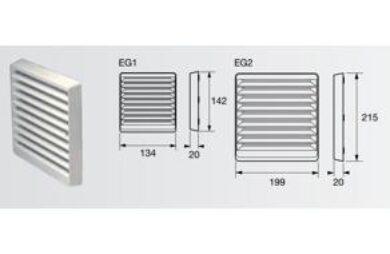Venkoní nástěnná mřížka, bílá, 100 mm(ZEG1W)