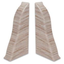 Koncovka levá PVC LM 55 akacia šedá 45-KLPVCLM5545