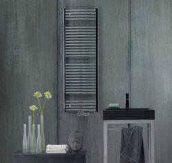 Koupelnový radiátor Aura 120x60, rovný, středové připojení,chrom-PBCZ-120-060-05
