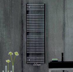 Koupelnový radiátor Aura, 180x60, rovný, středové připojení, chrom-PBCZ-180-060-05