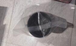 Potrubí do zdi 100 mm, plastové, pro snadné přišroubování mřížky-ZED1