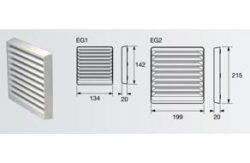 Venkoní nástěnná mřížka, bílá, 100 mm-ZEG1W