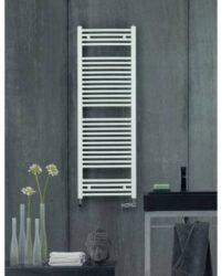 Koupelnový radiátor Aura, 150x60, rovný, vnější připojení, bílý-PBZ-150-060